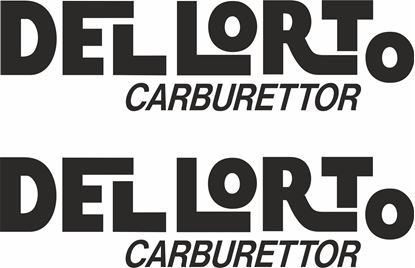 "Picture of ""Dellorto Carburatori"" Track and street race sponsor logo"