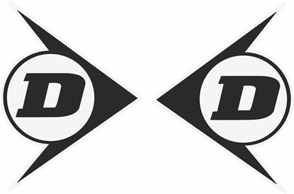 """Picture of """"Dunlop"""" Track and street race sponsor logo"""