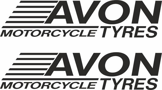"Picture of ""Avon Motorcycle Tyres"" Track and street race sponsor logo"