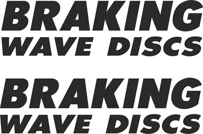 "Picture of ""Braking Wave Discs"" Track and street race sponsor logo"