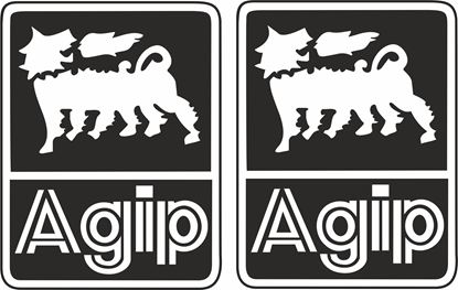 "Picture of ""Agip"" Track and street race sponsor logo"