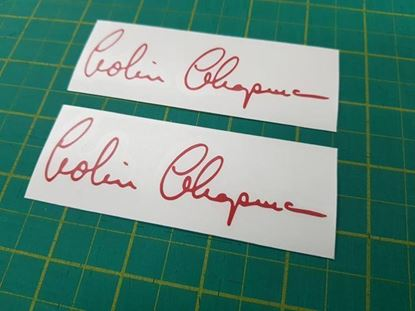 "Picture of Lotus  ""Colin Chapman"" Decals / Stickers"