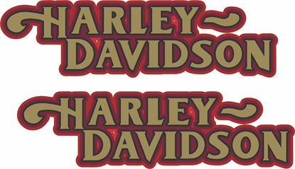 Picture of Harley Davidson Dyna Low Rider Tank  Decals / Stickers