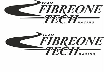 "Picture of ""Fibreone Tech"" Track and street race sponsor logo"