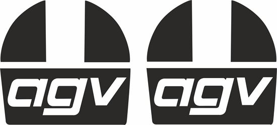 """Picture of """"AGV"""" Track and street race sponsor logo"""