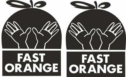 "Picture of ""Fast Orange"" Track and street race sponsor logo"