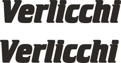 """Picture of """"Verlicchi"""" Track and street race sponsor logo"""