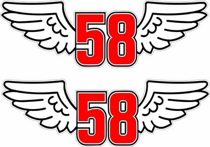"Picture of ""Marco Simoncelli"" 58 ciao marco  Track and street race sponsor logo"