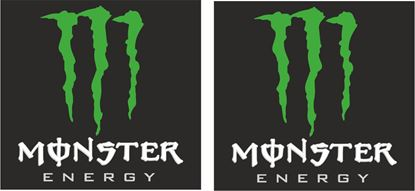 """Picture of """"Monster Energy""""  Track and street race sponsor logo"""