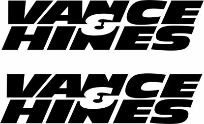 "Picture of ""Vance & Hines"" Track and street race sponsor logo"
