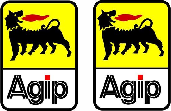 "Picture of ""Agip"" Track and street race sponsor Decals / Stickers"