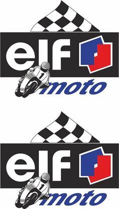 "Picture of ""elf moto""  Track and street race sponsor Decals / Stickers"