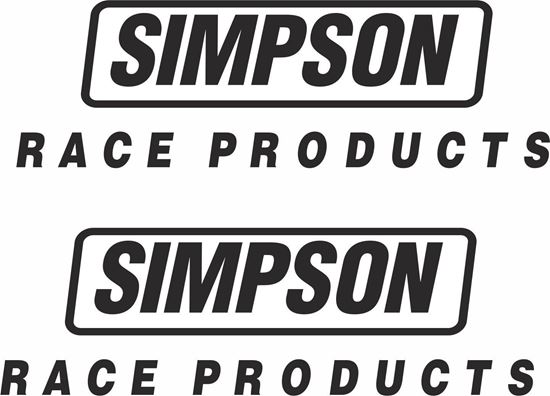"""Picture of """"Simpson Race Products"""" Track and street race sponsor logo"""