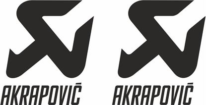 "Picture of ""Akrapovic"" Track and street race sponsor logo"