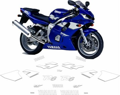 Picture of Yamaha YZF R6 1999 - 2001  replacement Decals / Stickers
