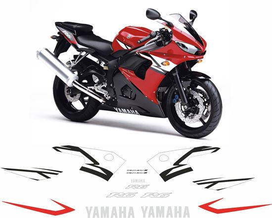 Picture of Yamaha YZF R6 2004 replacement Decals / Stickers