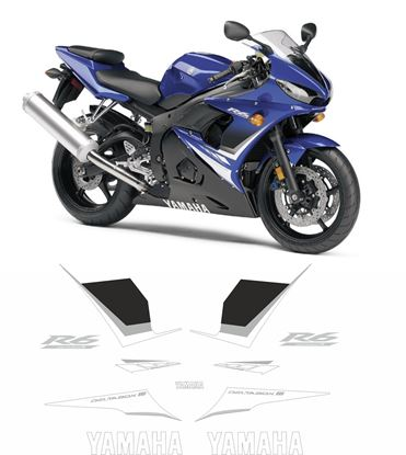 Picture of Yamaha YZF R6S 2008 Replacement Decals / Stickers
