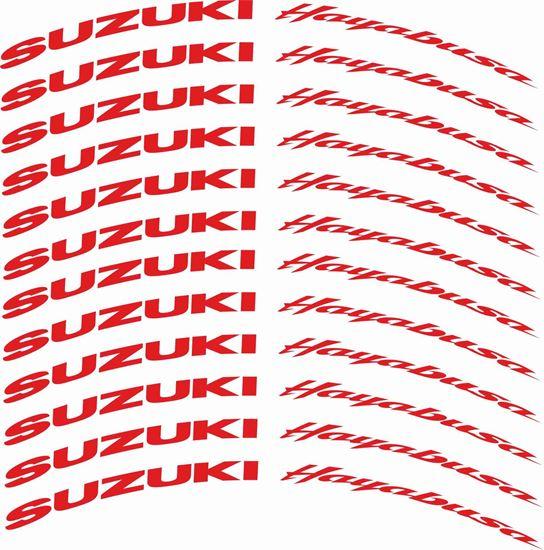 Picture of Suzuki GSX 1300R  Hayabusa Wheel Rim Decals / Stickers Kit