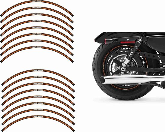 Picture of Harley Davidson Fourty Eight 1a Wheel Rim Decals / Stickers Kit