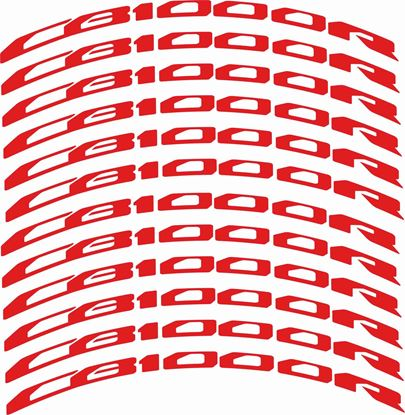 Picture of Honda Hornet CB1000 R Wheel Rim Decals / Stickers Kit