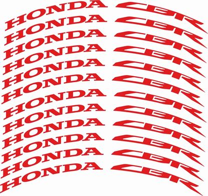 Picture of Honda CBR Wheel Rim Decals / Stickers Kit