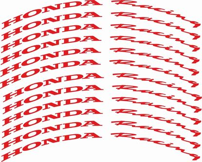 Picture of Honda Racing CBR  600cc - 1000cc Wheel Rim Decals / Stickers Kit