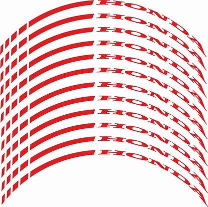 Picture of Honda Wheel Rim Decals / Stickers Kit