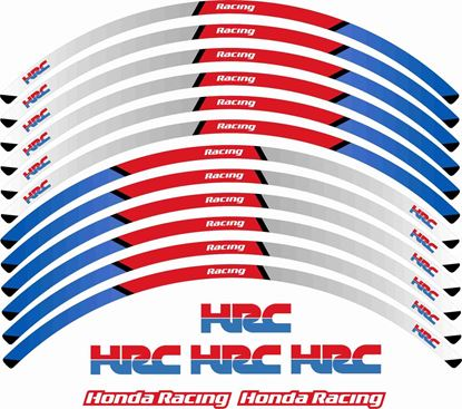 Picture of Honda HRC CBR  600cc - 1000cc Wheel Rim Decals / Stickers Kit