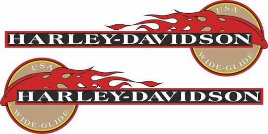 Picture of Harley Davidson Wide Glide eagle Tank  Decals / Stickers