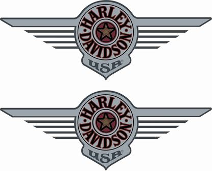 Picture of Harley Davidson Fat Boy Tank  Decals / Stickers