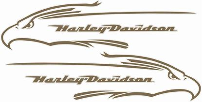 Picture of Harley Davidson FXD Eagle Tank  Decals / Stickers