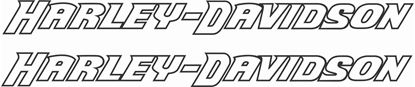 Picture of Harley Davidson Outlined stencil panel / Tank  Decals / Stickers