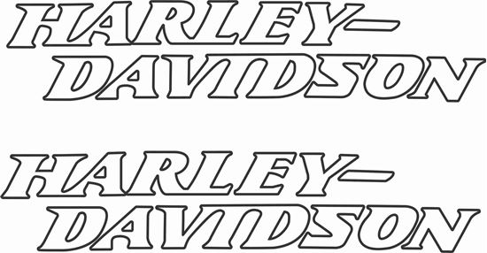 Picture of Harley Davidson Low Rider Tank  Decals / Stickers