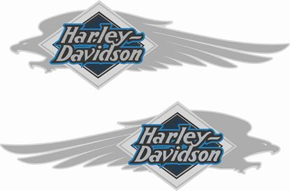 Picture of Harley Davidson Heratige Soft Tail Tank  Decals / Stickers
