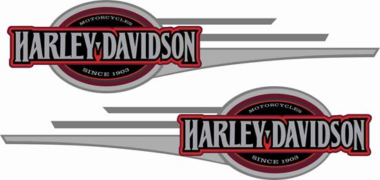 Picture of Harley Davidson Softail Tank Decals / Stickers