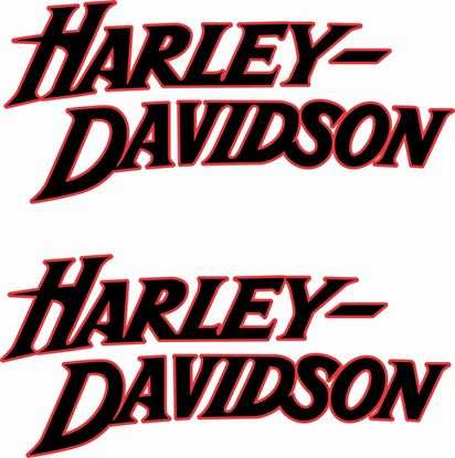 Picture of Harley Davidson Sporty FXD  Tank  Decals / Stickers - copy