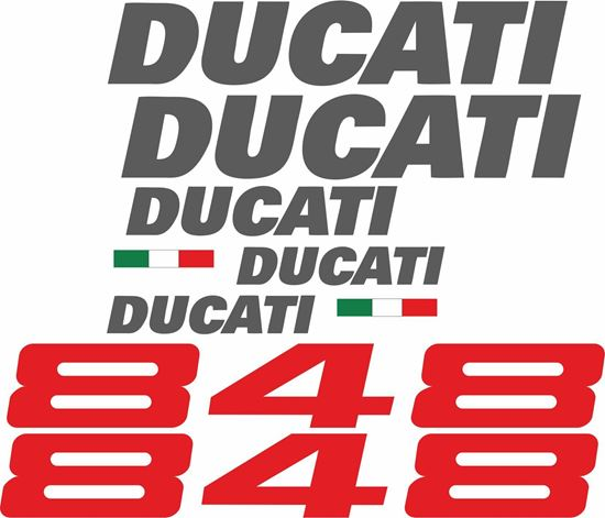 Picture of Ducati 848 replacement Decals / Stickers