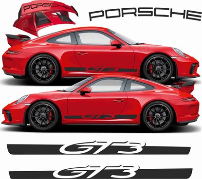 Picture of Porsche 991 GT3  side Stripes & rear wing Decals  / Stickers