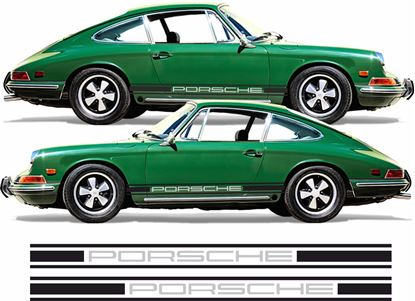 Picture of Porsche 911 - 911S -  911T -  911L Two colour Classic side Stripes / Stickers
