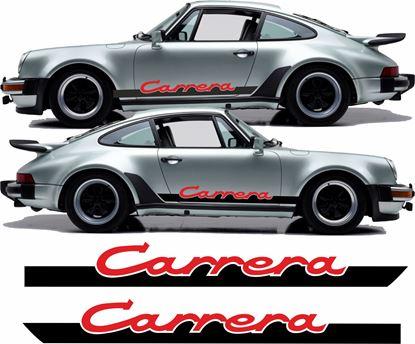 """Picture of Porsche 930 """"Carrera"""" Two colour side Stripes / Stickers"""