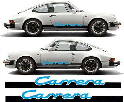 "Picture of Porsche 911 Classic ""Carrera"" Two colour side Stripes / Stickers"
