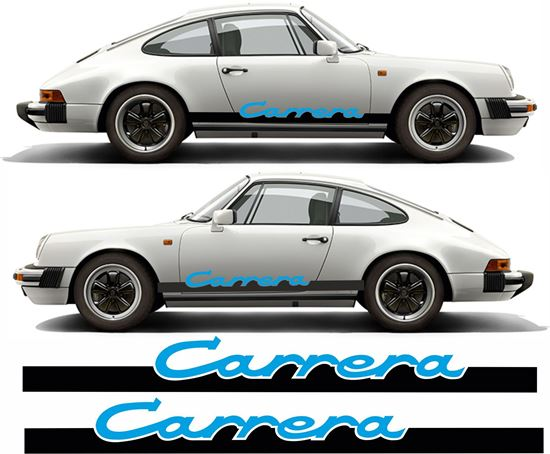 "Picture of Porsche 911 Classic ""Carrera"" Two colour side Stripes / Stickers"