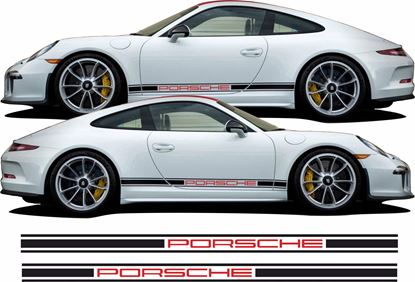 Picture of Porsche  991 side Stripes / Stickers (Fits all 911 variants)