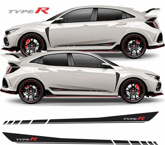 Picture of Honda Civic Type R FK8 side Stripes / Stickers