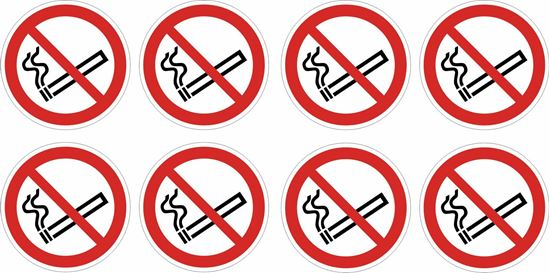 "Picture of Bus / Coach  ""No Smoking"" X8 @ 76mm Stickers"