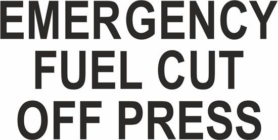 "Picture of Bus / Coach  ""Emergency fuel cut off press"" Sticker"