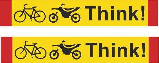 """Picture of Bus / Coach  """"Think"""" bike  X2 Stickers"""