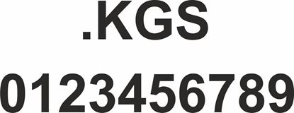 "Picture of Bus / Coach  "".... .KGS"" with numbers  Sticker"
