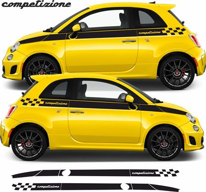 """Picture of Fiat 500 / 595 Abarth """"Competizione"""" side Stripes  / Stickers"""