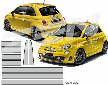 Picture of Fiat  500 / 595 Scuderia OTT  Stripes / Stickers